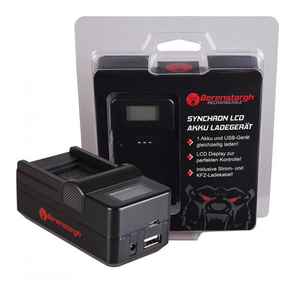 Berenstargh Synchron USB Ladegerät f. Casio Panasonic CGA-S007E Exilim EXZ150 EX-Z150 EXZ155 EX-Z155