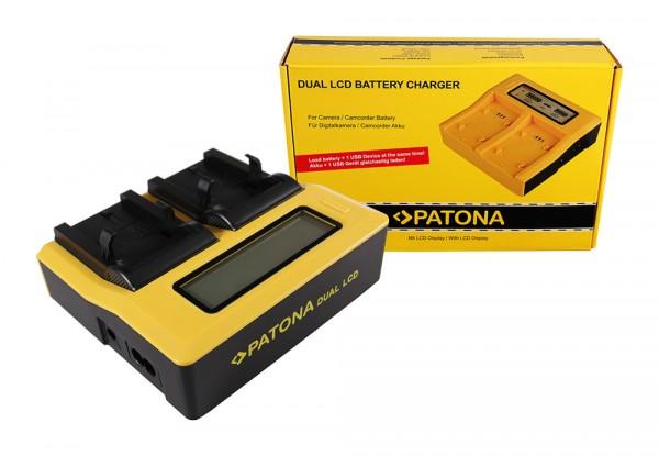 Dual LCD Ladegerät f. Nikon EN-EL1 NP-800 COOLPIX 4300 4500 4800 5000 5400 5700 775 von PATONA
