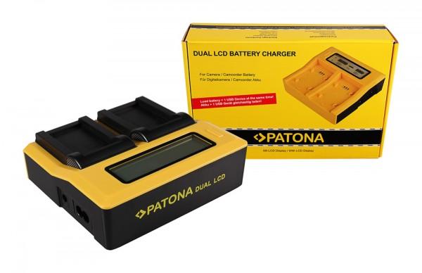PATONA Dual LCD USB Ladegerät f. Konica Minolta Minolta NP-200 Dimage X Xg Xi Xt Xt Biz