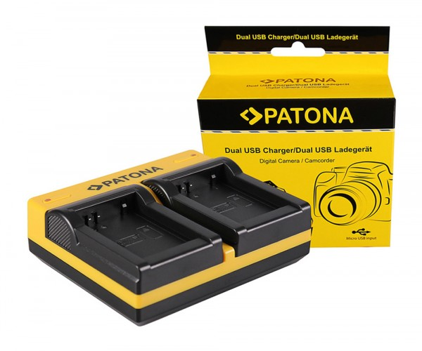 PATONA Dual Ladegerät f. Samsung BP-1030 NX NX200 NX-200 NX300 NX-300 inkl. Micro-USB Kabel