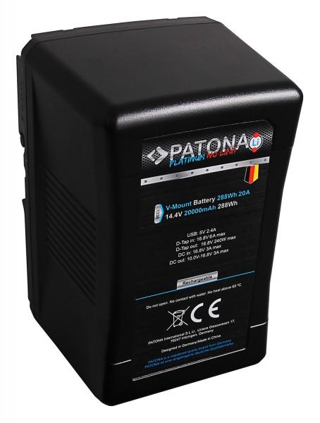 PATONA Platinum Akku V-Mount 30A 288Wh f. Sony BP-290W DSR 250P 600P 650P 652P mit Tesla-Zellen