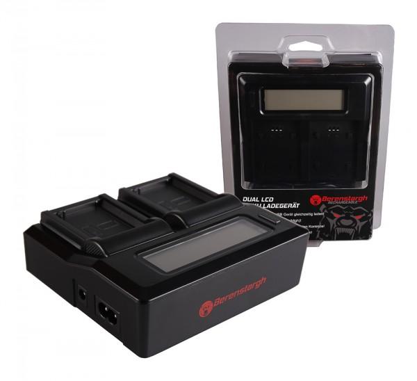 Berenstargh Dual LCD USB Ladegerät f. Canon LP-E10 EOS EOS1100D EOS-1100D Rebel T3 LP-E10 Kiss X50