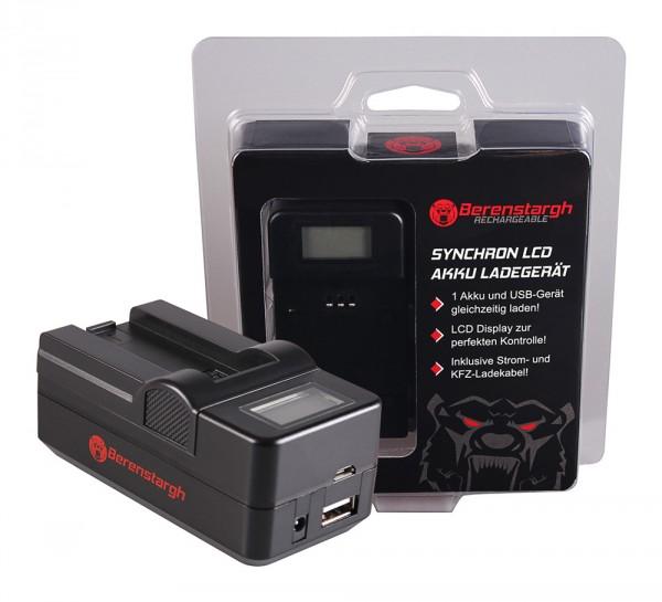 Berenstargh Synchron USB Ladegerät f. Casio NP-50 Exilim EXV7 EX-V7 EXV8 EX-V8