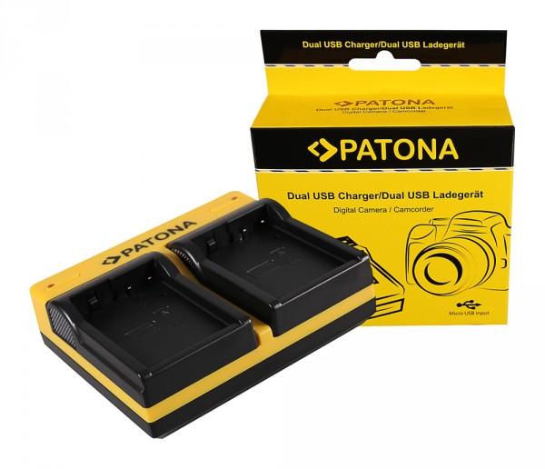 PATONA Dual Ladegerät f. Panasonic DMW-BLD10 Lumix DMCGF2 DMC-GF2 inkl. Micro-USB Kabel
