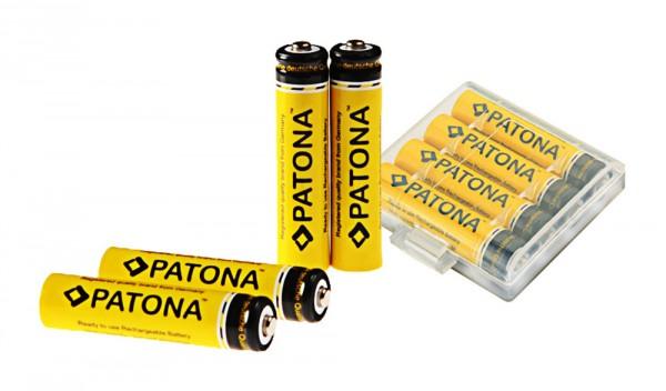 4x Akku f. Micro AAA LR3 LR03 900mAh von PATONA
