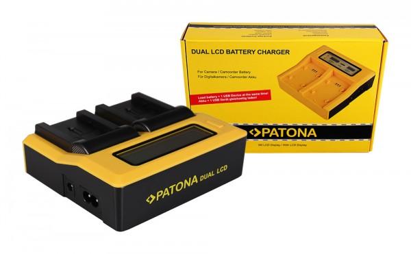 Dual LCD Ladegerät f. Canon BP-808 BP-809 BP-819 FSxx FS10 FS-10 FS100 FS-100 FS11 von PATONA