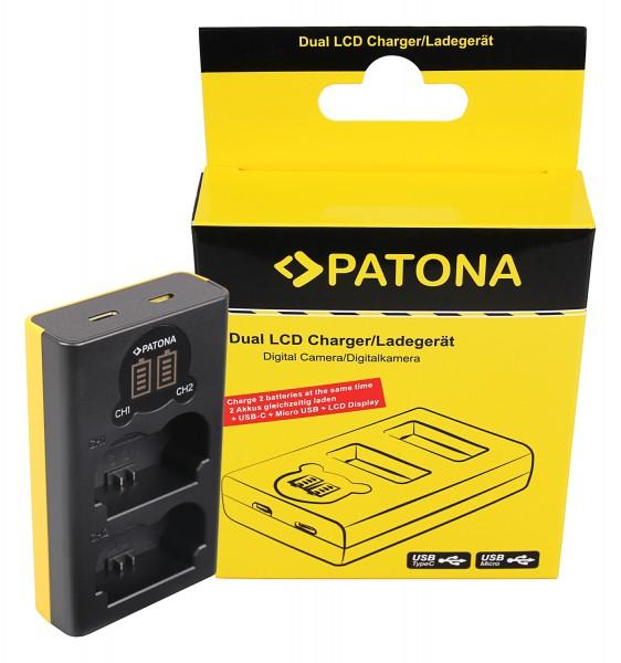 PATONA Dual LCD USB Ladegerät f. Fuji NP-W235 Fujifilm X-T4 XT4