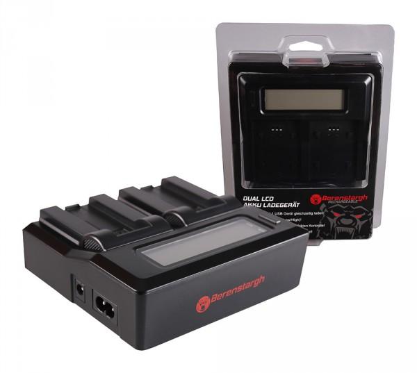 Berenstargh Dual LCD USB Ladegerät f. Casio NP-50 Exilim EXV7 EX-V7 EXV8 EX-V8