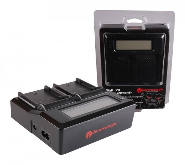 Berenstargh Dual LCD USB Ladegerät f. Panasonic DMW-BLF19 Lumix DMCGH3 DMC-GH3 DMCGH3A DMC-GH3A