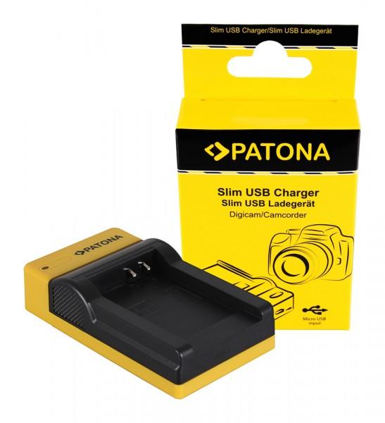 PATONA Slim Micro-USB Ladegerät f. Nikon EN-EL12, Coolpix AW100, AW1100, S6300, S8000, S9500
