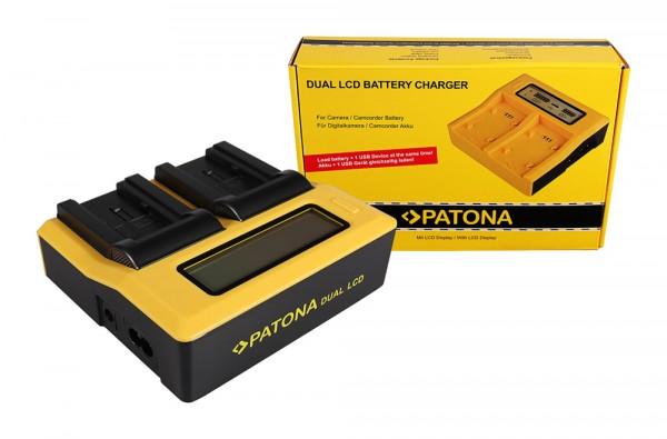 PATONA Dual LCD USB Ladegerät f. Canon BP-718 727 Legria HF R36 HF306 HF38 HF406 HF48 HFM506