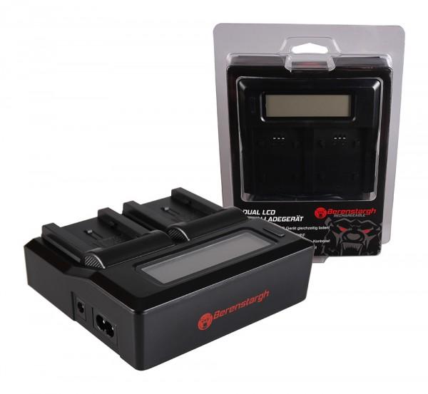 Berenstargh Dual LCD USB Ladegerät f. Canon BP-808 FSxx FS10 FS-10 FS100 FS-100 FS11 FS-11 BP-808 HF