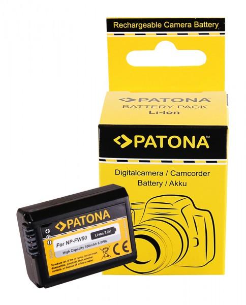 Akku f. Sony NP-FW50 Alpha 7 5000 5100 6000 NP-FW50 Cyber-shot RSCRX10 von PATONA