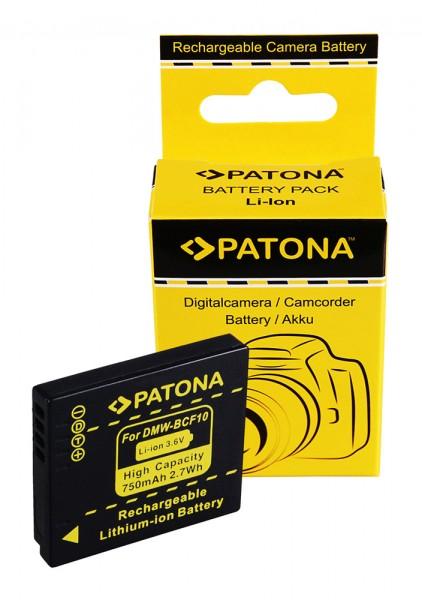 Akku f. Panasonic DMW-BCF10 Lumix DMC-FS7 FS12 FS25 FS42 FS62 FT1 FX40 von PATONA