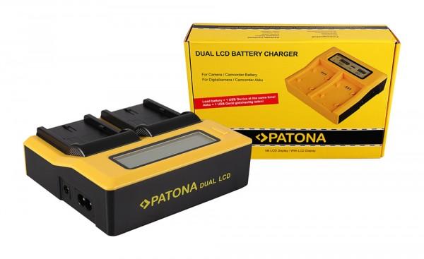Dual LCD Ladegerät f. Canon BP511 BP512A BP535 EOS 10D 20D 20Da 300D 300D 40D 650 von PATONA