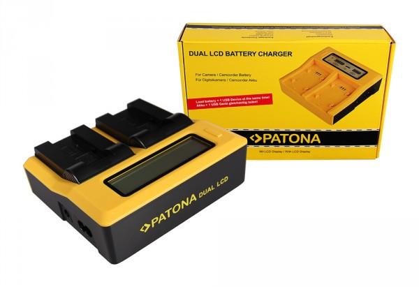 PATONA Dual LCD USB Ladegerät f. Caplio NP-80 RDC RDC1500 RDC-1500 RDC6000 RDC-6000 RDC7 RDC-7