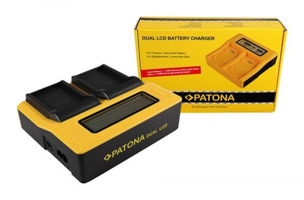 PATONA Dual LCD USB Ladegerät f. Drift Drift CFXDC02 HD Ghost