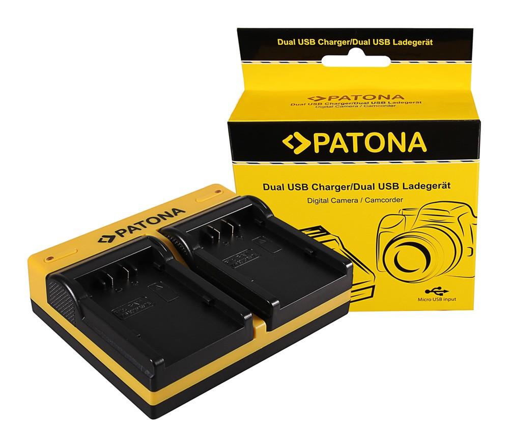 Patona Panasonic VW-VBD26 VBD58 VBD78 AGAC8EJ AG-AC8EJ AjHPX270 dupla töltő  USB kábellel