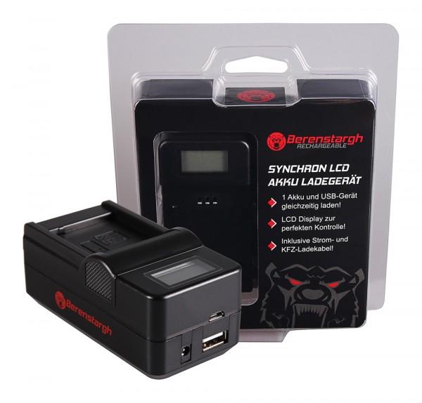 Berenstargh Synchron USB Ladegerät f. Panasonic DMW-BLE9E BHL7E Lumix DMCGF3 DMC-GF3 DMCGF3CK