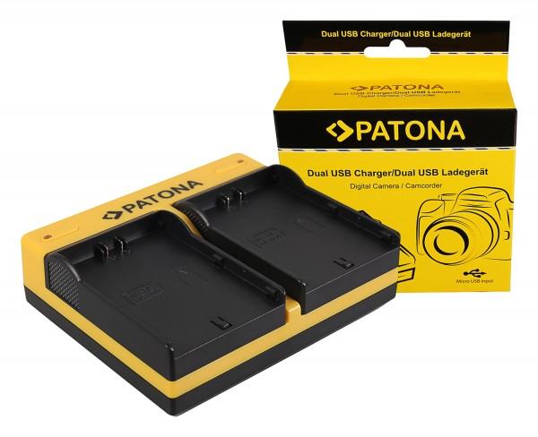 PATONA Dual Ladegerät f. JVC SSL-75 SSL-JVC50 SSL-JVC75 HM600 HM650