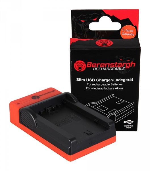 Berenstargh Slim Micro-USB Ladegerät f. Sony NP-FZ100 A7 III A7M3 Alpha 7 III A7 R III A7RM3 Alpha 7 R III A9 Alpha 9 FZ100