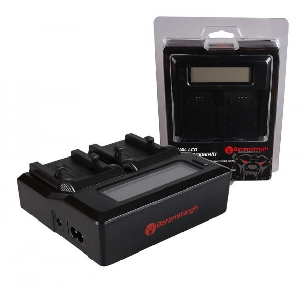Berenstargh Dual LCD USB Ladegerät f. Olympus Li-10B Camedia C50 Zoom C5000 Zoom C60 Zoom C760 Ultra