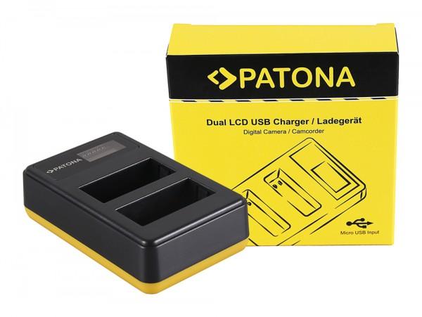 PATONA Dual LCD USB Ladegerät f. Fujifilm Fuji NP-W126 FinePix HS30 EXR HS30EXR HS-30EXR HS33