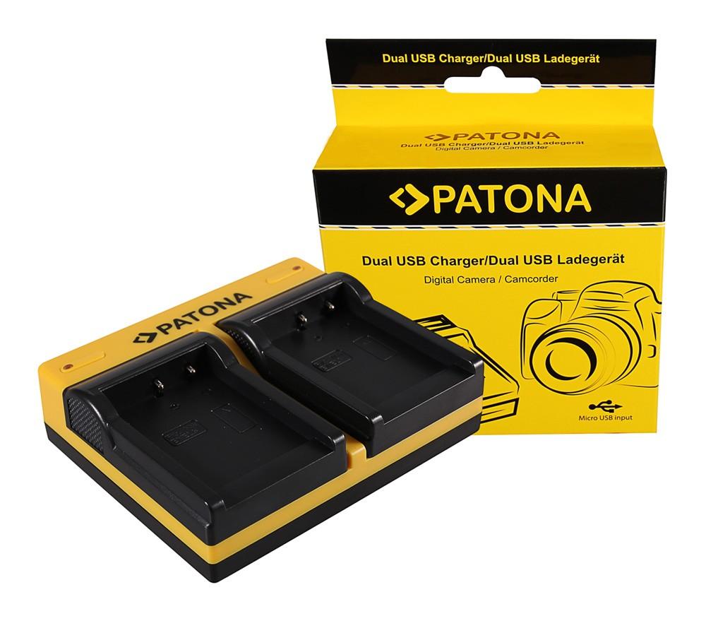 Patona Nikon EN-EL8 CoolPix P1 P2 S1 S2 S3 S5 S6 S7 S7c S9 dupla töltő  USB kábellel