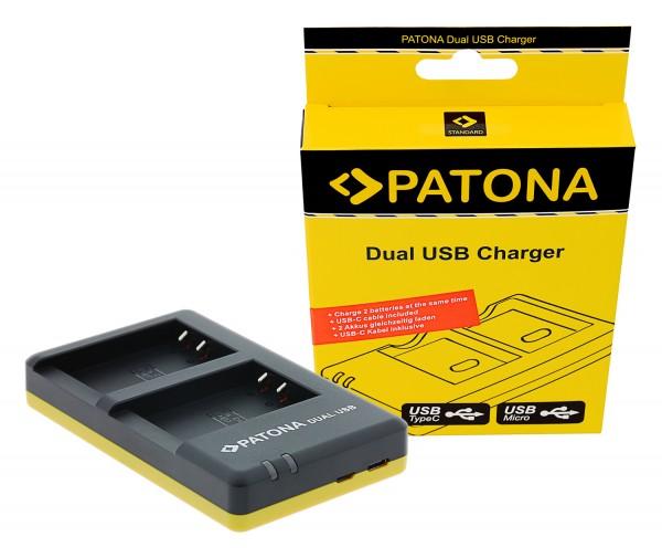 PATONA Dual Schnell-Ladegerät f. Canon LP-E17 EOS 750D 760D Kiss X8i inkl. Micro-USB Kabel