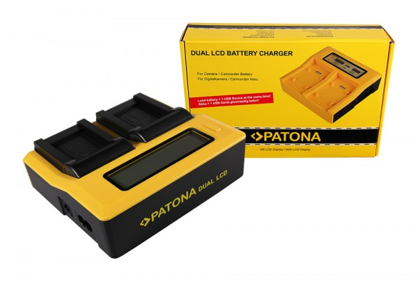 PATONA Dual LCD USB Ladegerät f. Casio NP-70 Exilim EXZ150 EX-Z150 EXZ155 EX-Z155 EXZ250 EX-Z250