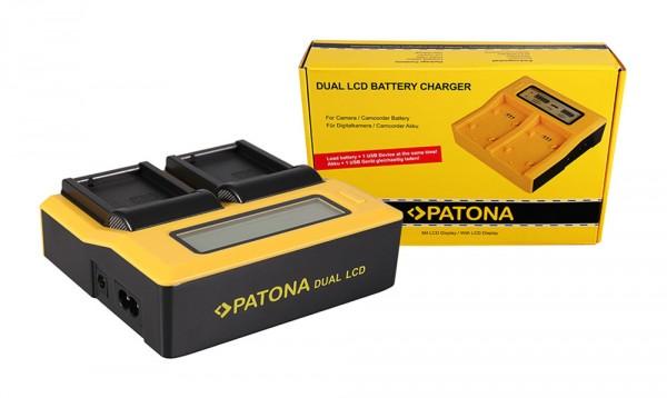 Dual LCD Ladegerät f. Leica DMW-BLC12PP V-Lux 4 DMW-BLC12PP DMW-BLC12PP Panasonic von PATONA