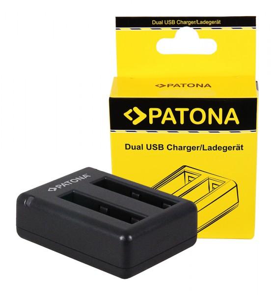 PATONA Dual Schnell-Ladegerät f. Xiaomi Yi Xiaoyi YDXJO1XY inkl. Micro-USB Kabel