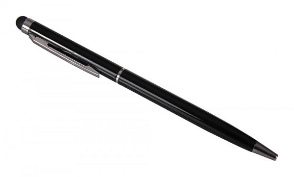 2in1 Touchpen slim schwarz mit integriertem Kugelschreiber von PATONA