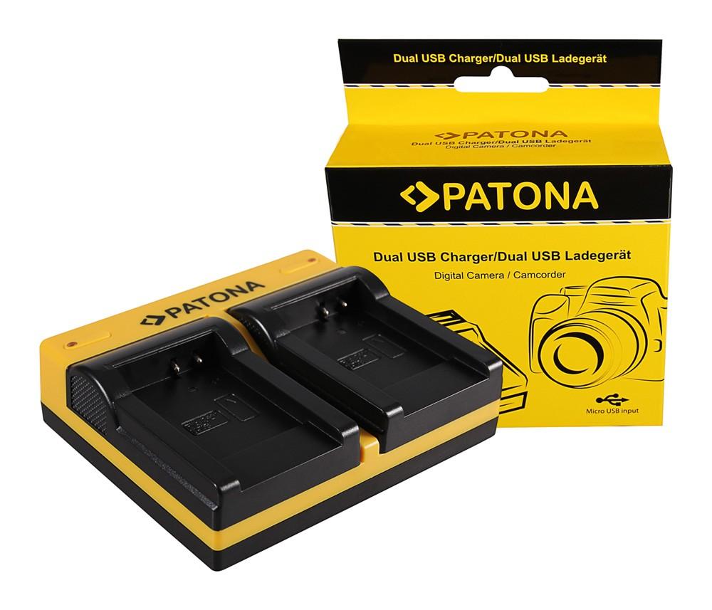 Patona Olympus Li-70B FE FE4020 FE-4020 FE4040 FE-4040 FE5040 FE-5040 dupla töltő  USB kábellel