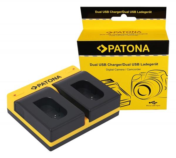 PATONA Dual Ladegerät f. Panasonic DMW-BLK22 DC-S5 G9 GH5 GH5S