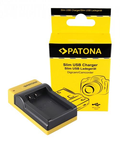 PATONA Slim Micro-USB Ladegerät f. Canon LP-E17 EOS 750D 760D 8000D Kiss X8i Rebel Rebel T6i Rebel