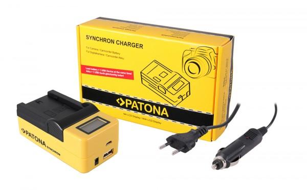 PATONA Synchron USB Ladegerät f. Sony NP-FZ100 A7 III A7M3 Alpha 7 III A7 R III A7RM3 Alpha 7 R III