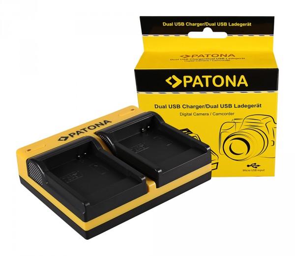 PATONA Dual Ladegerät f. Samsung SLB-07A TL TL100 TL210 TL220 TL225 TL90 SLB-07A PL150 inkl. Micro-U