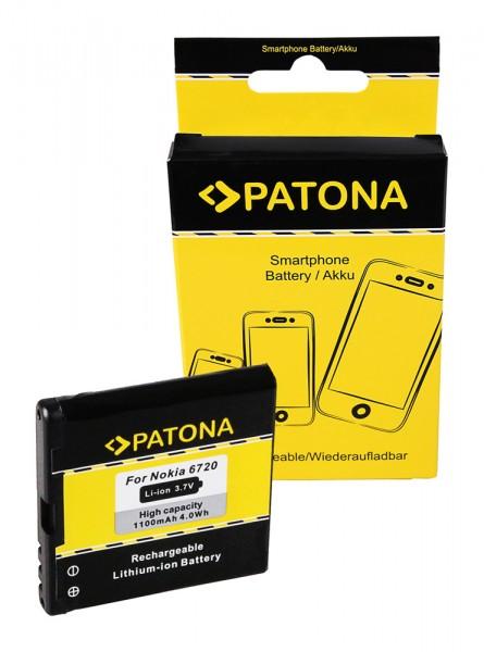 Akku f. Nokia 6720 classic 6720 classic E51 N81 N81-8GB N82 von PATONA
