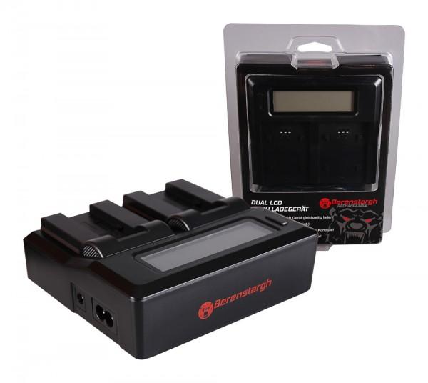Berenstargh Dual LCD USB Ladegerät f. Caplio NP-80 RDC RDC1500 RDC-1500 RDC6000 RDC-6000 RDC7 RDC-7