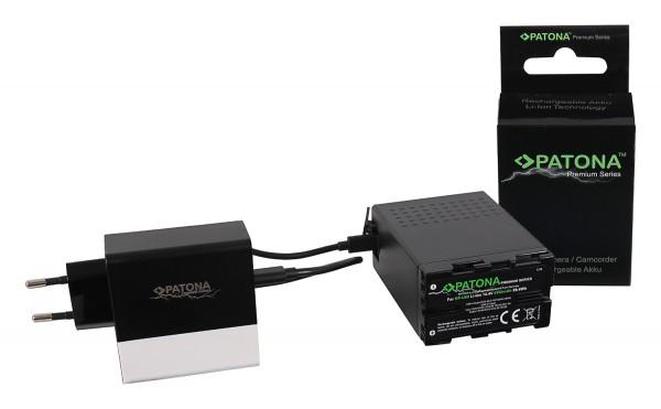 PATONA Premium Akku f. Sony BP-U68 BP-U65 BP-U60 6900mAh inkl. D-Tap und USB-ports mit PD-Ladegerät