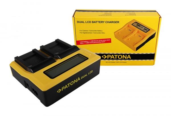 PATONA Dual LCD USB Ladegerät f. Pentax D-LI88 Optio H90 P70 P80 W90 WS80 D-LI88 D-LI88 SANYO