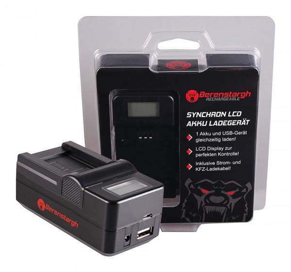 Berenstargh Synchron USB Ladegerät f. Casio NP-70 Exilim EXZ150 EX-Z150 EXZ155 EX-Z155 EXZ250 EX-Z25