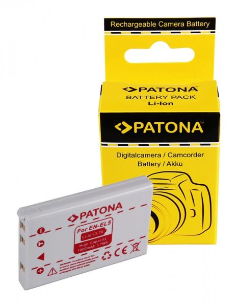 Akku f. Nikon EN-EL5 Coolpix 500 3700 4200 5000 5200 5900 7900 P5000 von PATONA