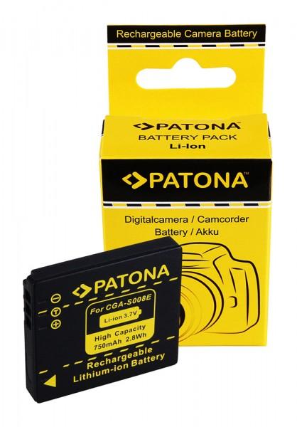 Akku f. Panasonic CGA-S008E Lumix DMCFS20 DMC-FS20 DMCFS3 DMC-FS3 von PATONA