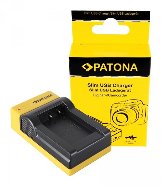 PATONA Slim Micro-USB Ladegerät f. Sony NP-BX1 BX BX1 NP-BX1 Cybershot DSC HX300 DSC HX50V DSC RX1