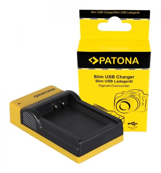 PATONA Slim Micro-USB Ladegerät f. Canon LP-E10 EOS EOS1100D EOS-1100D Rebel T3 LP-E10 Kiss X50
