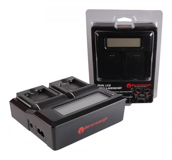 Berenstargh Dual LCD USB Ladegerät f. Panasonic DMW-BCN10 Lumix DMCLF1 DMC-LF1 DMCLF1K DMC-LF1K