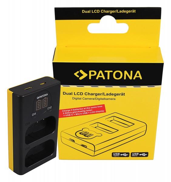PATONA Dual LCD USB Ladegerät f. Panasonic DMW-BLJ31 Lumix DC-S1 DC-S1R DC-S1H