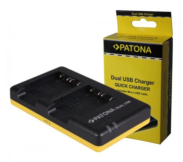 PATONA Dual Schnell-Ladegerät f. Sony NP-BG1 DSC H55 H70 inkl. Micro-USB Kabel